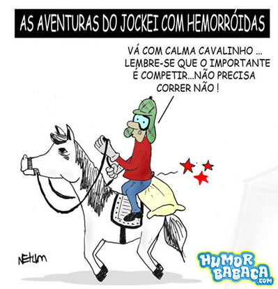 Jockey com Hemorroida