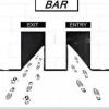 Entrada e saída de bar
