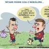 Neymar assina com o Barcelona...