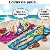 Loiras na praia!