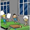 Guerra de travesseiros...