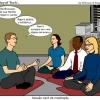 Nerd meditando