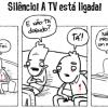 Silêncio a TV está sagrada
