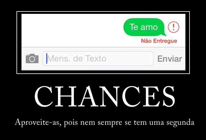 Aproveite a chance
