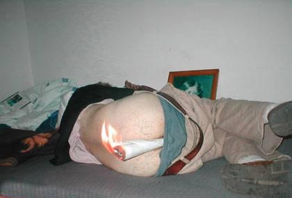 Literalmente com fogo no c........