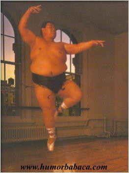 Dançando balé...