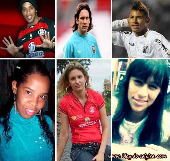 Sósias dos jogadores de futebol