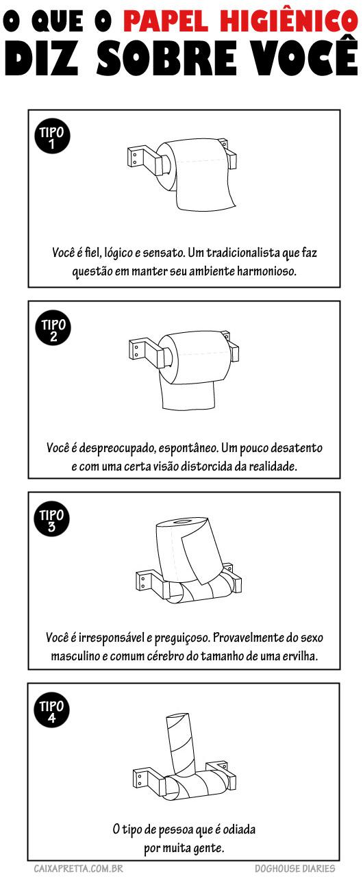 O que o papel higiênico diz sobre você