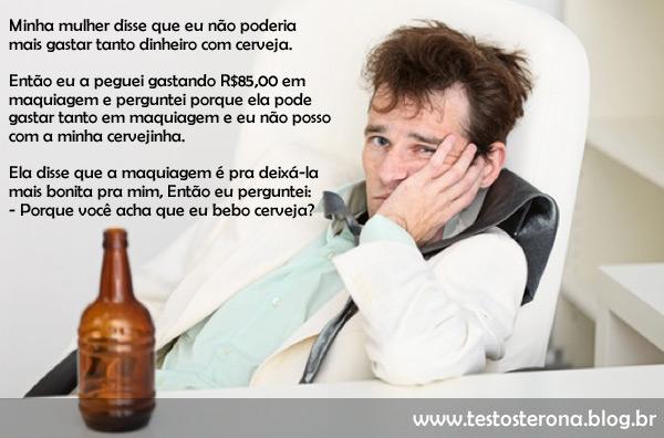 Por que os homens bebem cerveja?