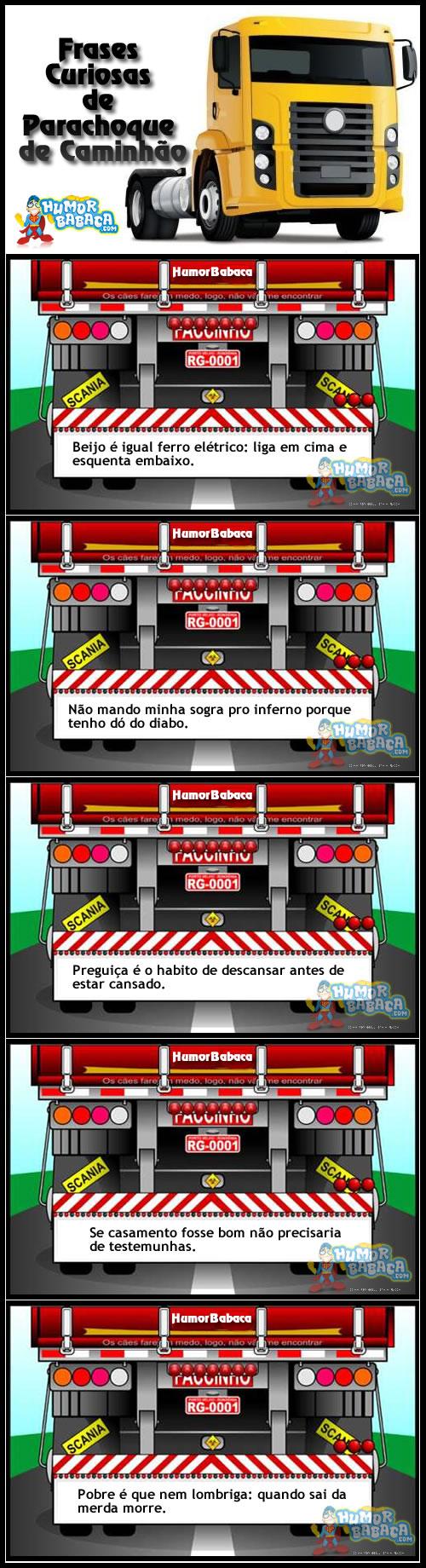 Frases Curiosas De Parachoque De Caminhão Humorbabacacom