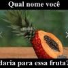 Que nome você daria para essa fruta?