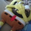 Dormindo com o Bob Esponja!
