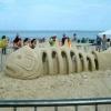 Arte na areia!