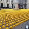 Protesto de operários italianos