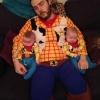 Cowboy e seus filhos gêmeos...