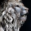 Leão feito de sucata!