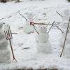 Arrastão de boneco de neve...