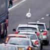 Trânsito parado na Escócia