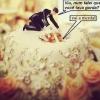 A noiva gordinha estragando o bolo