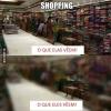 O que as mulheres olham no shopping