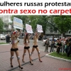 Mulheres russas protestam