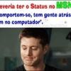 Novo Status no MSN