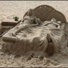 Uma obra de arte na areia!