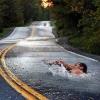 Nadando no asfalto!