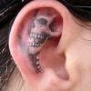 Orelha tatuada...