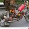 Bicicleta à pé!