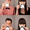 Bigode no café!