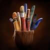 Porta Lápis feito com dedos