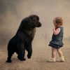 O cão mais parece um macaco...