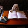 Cão estudioso!