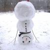 Boneco de neve fail!