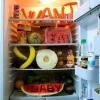 Recado na geladeira!