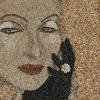 Arte da ucraniana Svetlana Ivanchenko com areia e conchas V