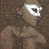 Arte da ucraniana Svetlana Ivanchenko com areia e conchas VI
