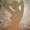 Arte da ucraniana Svetlana Ivanchenko com areia e conchas XIV