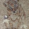 Arte da ucraniana Svetlana Ivanchenko com areia e conchas XV