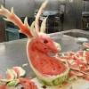 Arte na melancia!