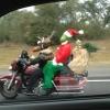 Papai Noel motorizado!