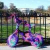 Uma bela bike de crochê!