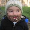 A barba precoce...