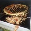 Pizza fatiada...
