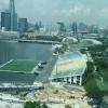 Estádio de futebol flutuante Marina Bay