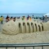 Belíssima arte na areia!