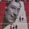 Arte de rua na escada!