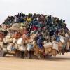 Africano indo para o trabalho...