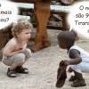 A inocência das crianças...